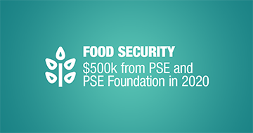 Food Security $500k from PSE and PSE Foundation in 2020